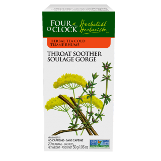 FOUR O'CLOCK HERBALIST TEA THROAT SOOTHER