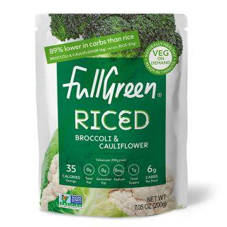 FULL GREEN RICED CAULIFLOWER AND BROCCOLI
