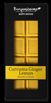 BENJAMISSIMO CURCUMA GINGER LEMON CHOCOLATE BAR