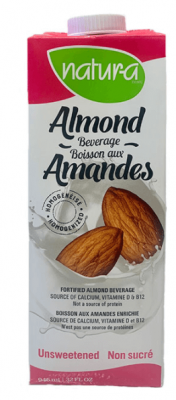 NATUR-A ALMOND BEVERAGE UNSWEETED