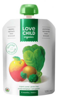 LOVE CHILD APPLES SPINACH KIWI PUREE POUCH