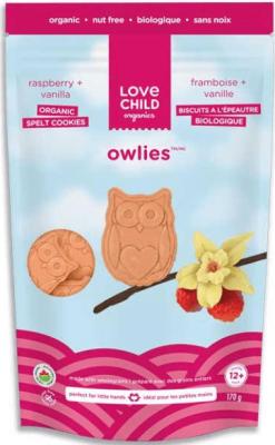 LOVE CHILD ORGANICS OWLIES RASPBERRY VANILLA