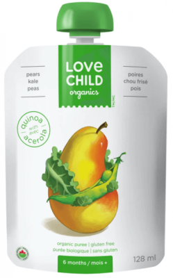 LOVE CHILD PEARS KALE PEAS POUCH