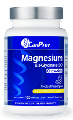 MAGNESIUM BIS-GLYCINATE 50 CHEWABLES TROPICAL PINEAPPLE