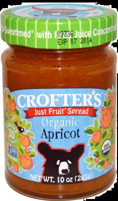 CROFTER'S JUST FRUIT SPREAD ORGANIC APRICOT JAM