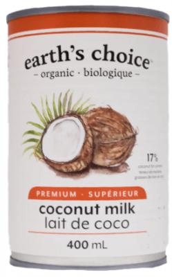 EARTHS CHOICE GUAR GUM FREE COCONUT MILK