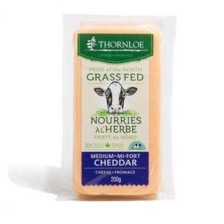 THORNLOE GRAS FED MEDIUM CHEDDAR BLOCK